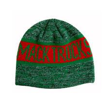 Mack Trucks Retro Green & Red Knit Beanie Cap Ski Winter Hat