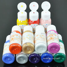 12 Color Airbrush Paint Nail Art Painting Craft Airbrush Ink & Free Stencil 109N