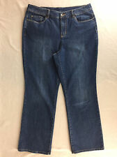 Christopher & Banks Petite Jeans Stretch Boot Cut Rhinestones Women Size 10P