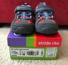 NIB Stride Rite 4 Wide Toddler Boys SRT Jasper Grey Orange Toddler Causal Shoes