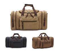 Large Canvas Travel Shoulder Bag Hand Luggage Duffle Sport Gym Bag Weekend Bag