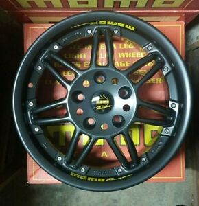 MOMO RACER EVO 1 Black 7,5x16 5x120 et35 m.72,6 set 4 cerchi nuovi in scatola