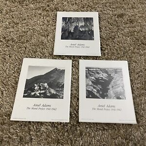"Ansel Adams Lot Of 3""The Mural Project 1941-1942""Unframed Art Poster Board 8x10"