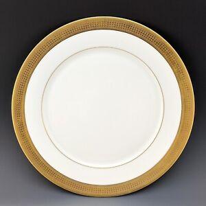 "Lenox Oxford White Bone China MALDON Gold Encrusted Dinner Plate 10 5/8"""