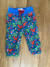 Toby Tiger Baby Bottoms Trousers Velvet Cord Blue Squirrel Toadstools S6-12mths