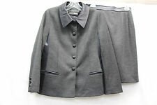 Louis Feraud Womens Skirt Suit Gray Black Excellent Used Condition No Size 2443