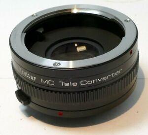Vivitar 2X Teleconverter lens Tele-plus for Minolta MC mount manual focus