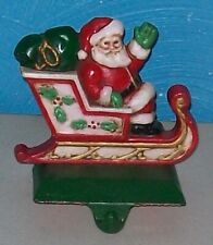 Vintage Midwest Santa's SANTA CLAUS Cast Iron Christmas Stocking Hanger Holder
