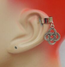 Ear Cuff Celtic Knot Charm Drop Dangle Handmade Jewelry Silver Fashion NEW
