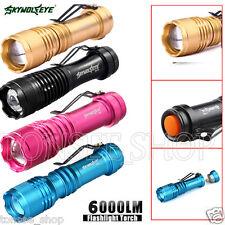 Superhelle 6000LM CREE Q5 LED-Taschenlampe AA/14500 ZOOM Wasserdichte Stablampe