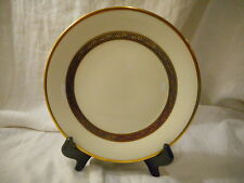 Salad Plate, Royal Doulton China Harlow Pattern (H5034), Blue Flowers Gold Trim