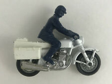 Vintage 1977 Matchbox Honda 750 Police Motorcycle No.33 w/ Rider Lesney England