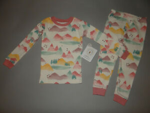 NWT, Toddler girl clothes, 3T, Burt's Bees Baby Mountain outfit/ P.J set