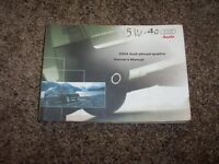 2004 Audi Allroad Quattro Owner Operator User Guide Manual 2.7L V6 4.2L V8