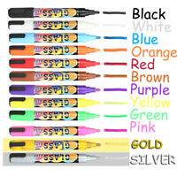 12 Colors Dual Nib Liquid Chalk Highlighter Fluorescent Neon Marker Pen 2 Pack