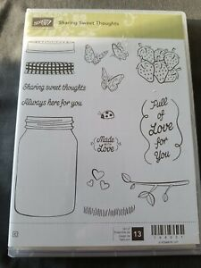Stampin Up Sharing Sweet Thoughts Rubber Stamp Set Unused