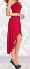 H&M Vokuhila Bandeau Kleid Rot Pink Stretch Gr. 40 + Armreif* gratis