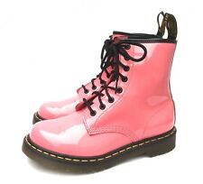 DR MARTINS LADIES 1460 ACID PINK PATENT LEATHER 8 HOLE BOOTS WORN TWICE 38 UK 5