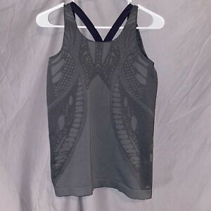 Athleta Gray Athletic Tank  Top With Built In Sports Bra Sz Med
