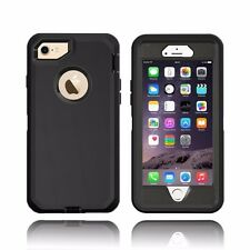For NEW iPhone 7 Defender Outer Series Case w/Clip & Screen Protector BLACK