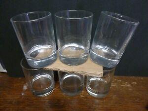 Six Small Tumbler Glasses