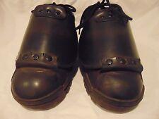 Men's Pentagon Black Leather Occupational Safety Shoes Size 11 D