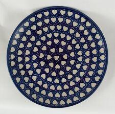 Bunzlauer Keramik Teller, Essteller, Speiseteller, ø 26cm (T132-SEM), Herzen