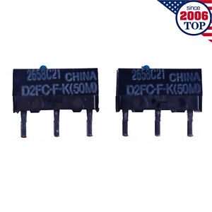 2PCS New OMRON Mouse Micro Switch D2FC-F-K(50M) Blue Dot Mouse Button Fretting