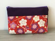 New Japanese Ladies Women's Purse Bag Clutch Cosmetic Make up Storage Kimono