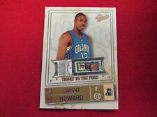 2004 05 Authentix Dwight Howard ticket to the pros RC  #ed 325/750