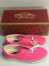 Vans Era (Neon) Knockout Pink True White Womens Classic Casual Shoes