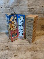 Vintage JENGA 1993 MB Games Wooden Block Building Tower Game Complete 90s