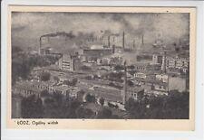 AK Lodz, Litzmannstadt, Ogolny widok, Feldpost 1939