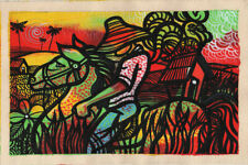 CUBAN LIFE Original Art Painting Acrylic Canvas LEONARDO RUBIO BRIDON  R16