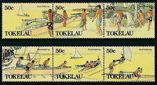1989 TOKELAU FOOD GATHERING SET OF 6 FINE MINT MNH