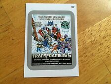 TOPPS WACKY PACKAGES 2015 SILVER BORDER STICKER TRANSFORMERS TRANSFOAMERS 5 107