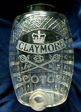 More details for antique glass whisky dispenser not jug claymore scotch greenlees brothers c.1907