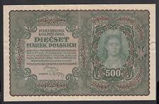 Poland 500 Marek 1919  VF P. 28,  Banknotes, Circulated