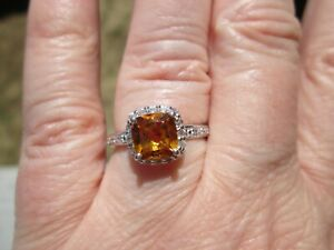 Citrine Sterling Silver Ring TGW 3.00 cts.