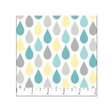 Flannel Fabric - Once Upon A Cloud Nursery Baby Raindrop White - Northcott YARD