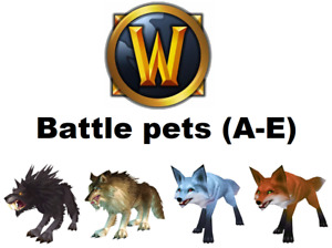 Wow Battle Pets (A-E) 🔥 Fast Delivery 🔥 World of Warcraft 🔥 US 🔥