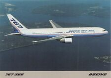 BOEING 767-300~EXTENDED RANGE VERSION~TWIN AISLE~AIRCRAFT POSTCARD