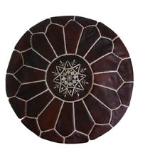 Authentic Moroccan Ottoman Leather Poof