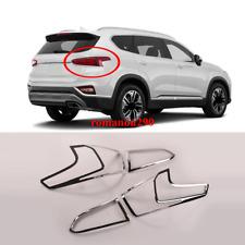 For Hyundai Santa Fe 2019-2020 ABS Chrome Rear Tail Light Lamp Cover Trim 4pcs