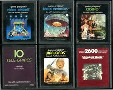 ATARI 2600 LOT OF 6 GAMES - GAMES ONLY -  VIDEO PINBALL, WARLORDS, CAPTURE, +
