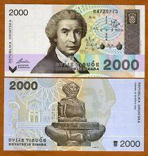 Croatia, 2,000 (2000) Dinara, 1992, P-23, UNC