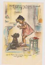 Carte Postale Germaine Bouret. Je m'lave les mains ou j'mets mes gants. TBE