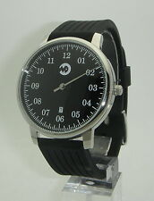 UNO 01 Watch: Date, Single Hand, modern design steel black rubber citizen mvt.