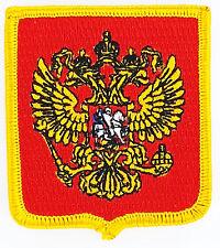 AUFNÄHER Patch FLAGGEN flagge russland russia Russisch Fahne Aufbügler wappen