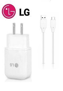 LG ORIGINAL FAST ADAPTIVE CHARGER+LG TYPE C USB FOR LG G5,G6,G7,G8,G8 ThinQ